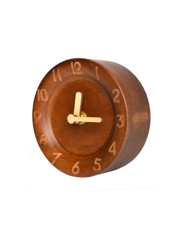 houten bureauklokje