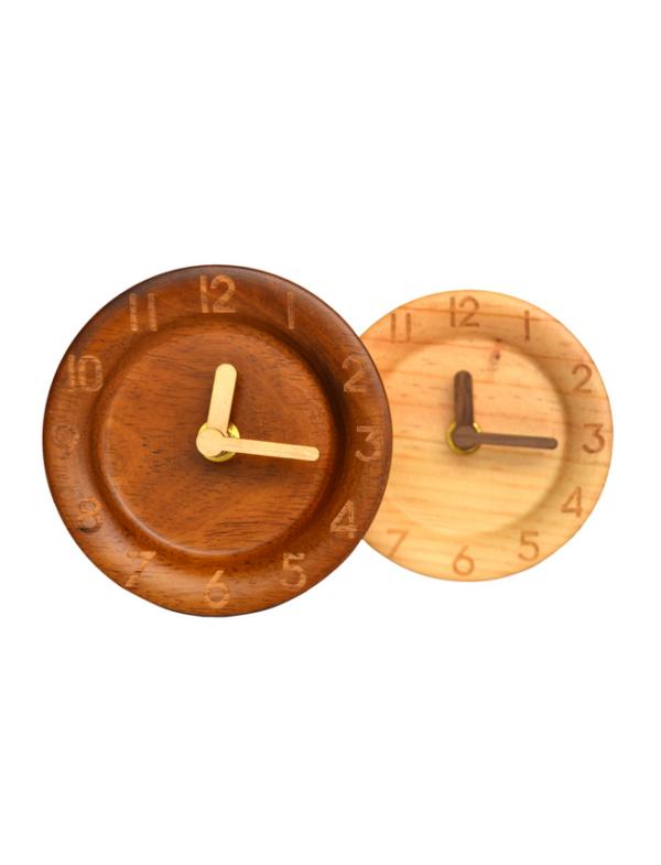 houten bureauklok