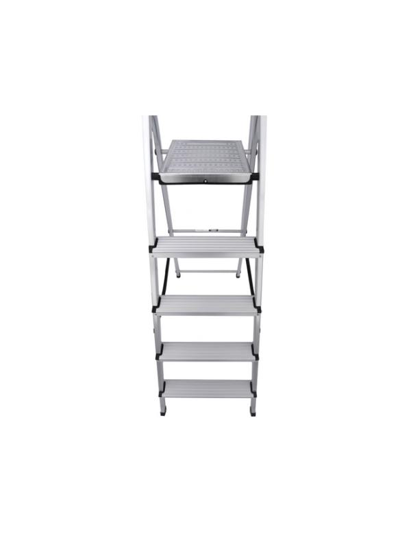 huishoudtrap 5 treden aluminium trap ladder anti slip opbergkap