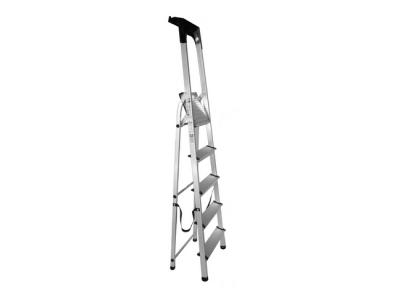 huishoudtrap 5 treden aluminium opbergkap trap