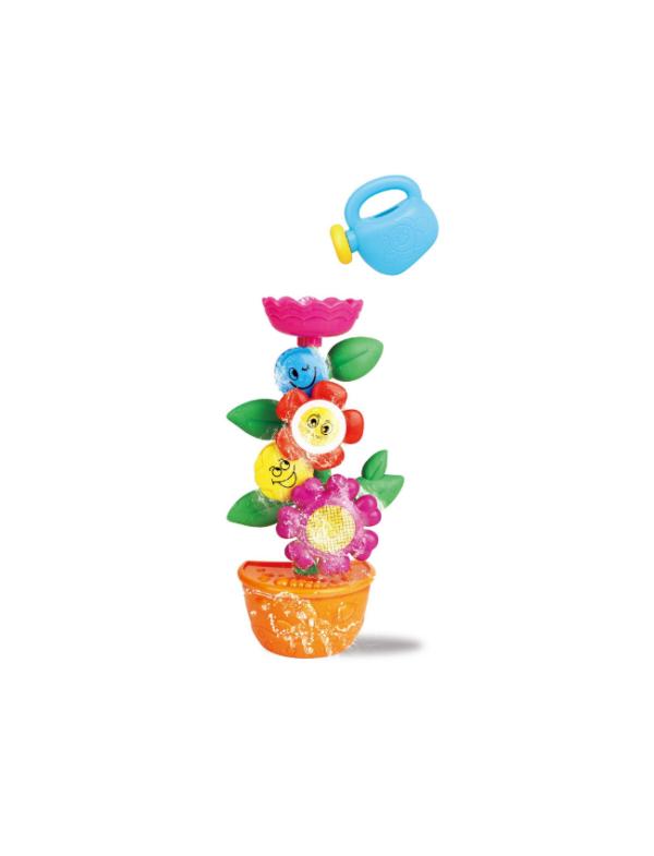 draaiende bloemen watermolen badspeelgoed kind