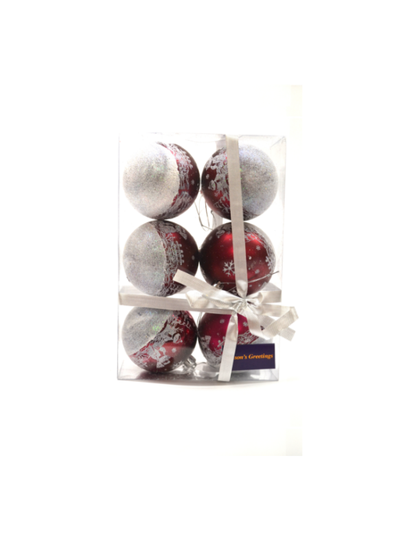 kerstballen donker rood