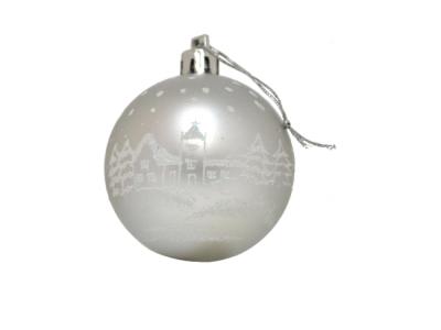 kerstballen kerst stad zilver