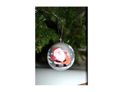 kerstballen kerstman 8stuks