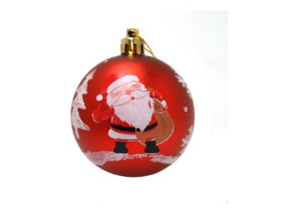 kerstballen kerstman rood