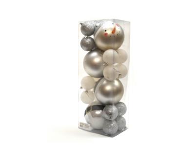 kerstballen kerstversiering zilver