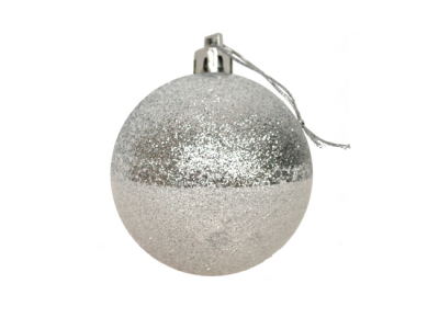 kerstballen zilver wit