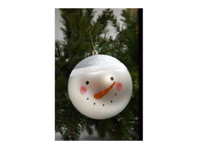 kerstballen sneeuwpop 20 set