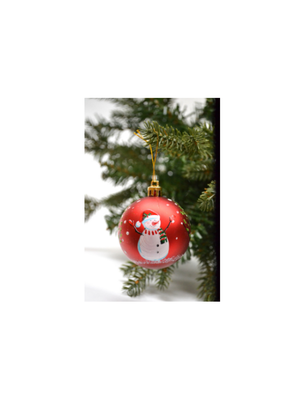 kerstballen sneeuwpop 8stuks