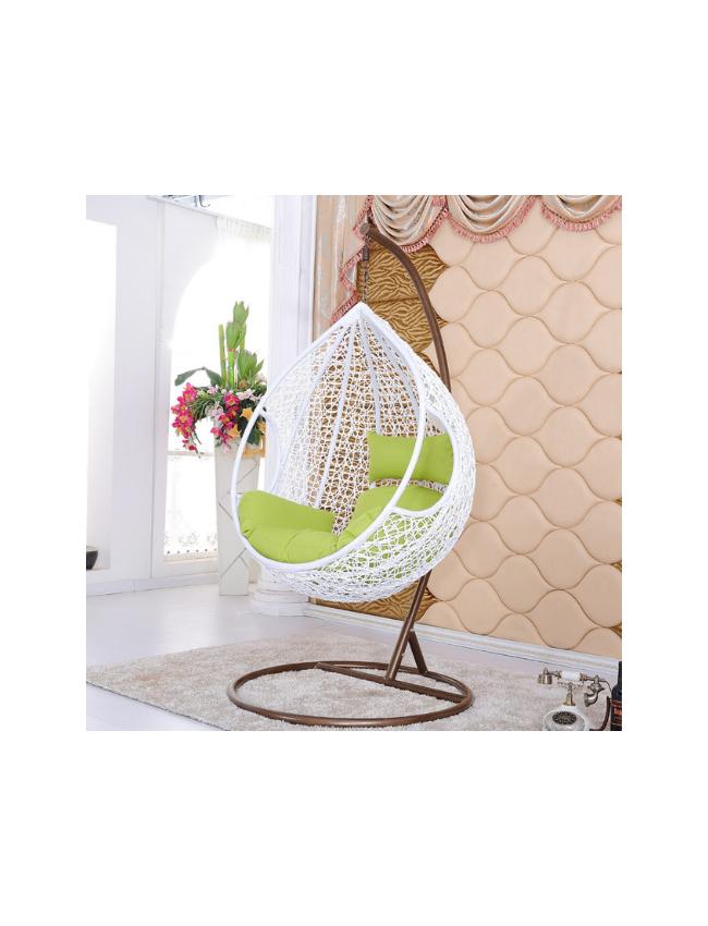 egg schommelstoel wit