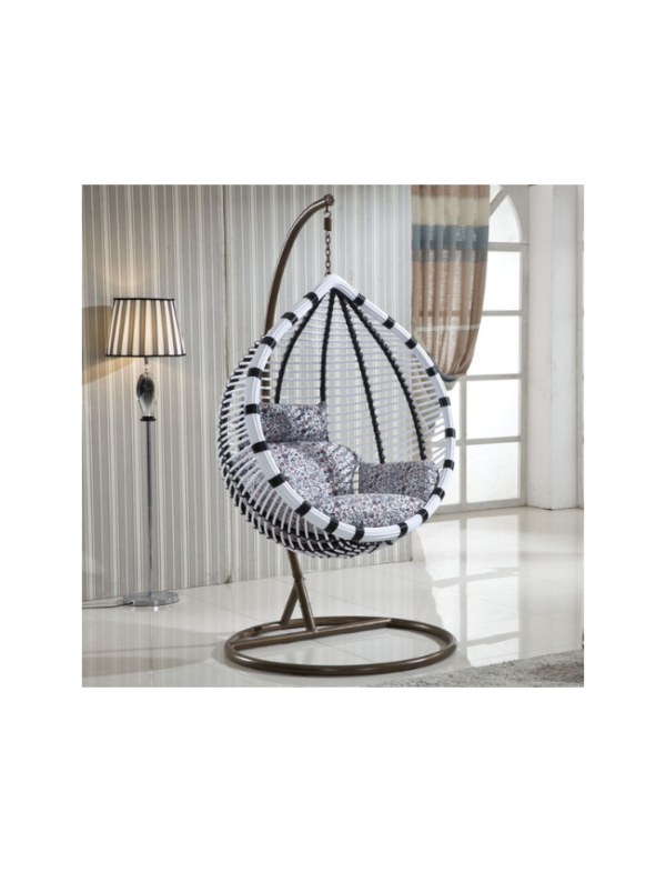 hangstoel eggy black white schommelstoel