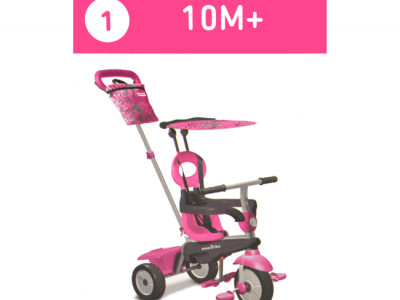 driewieler smart trike roze