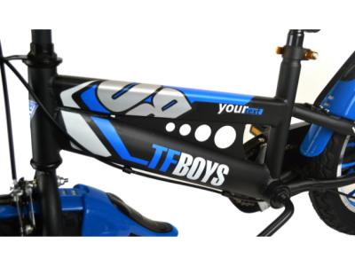 kinder fiets zwart blauw
