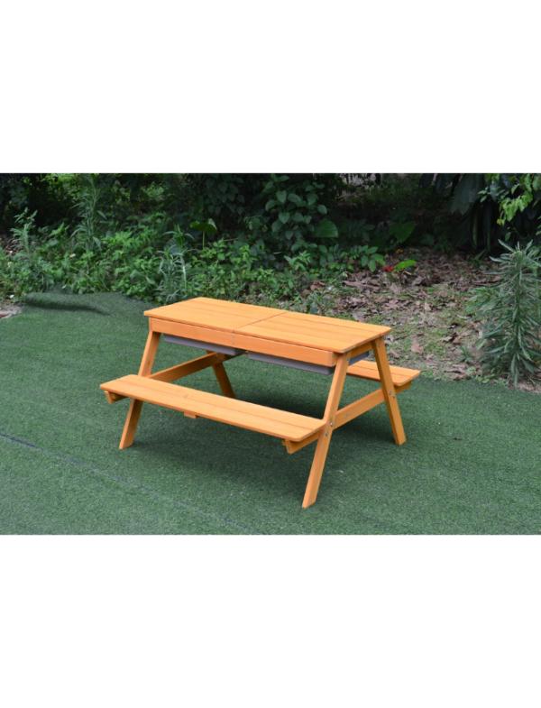 houten picknicktafel kinderen
