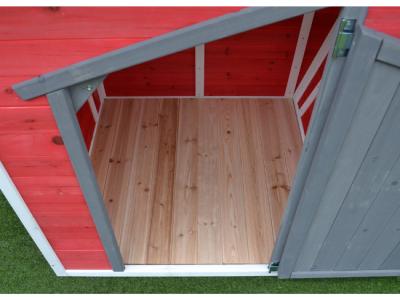 houten speelhuisje rood