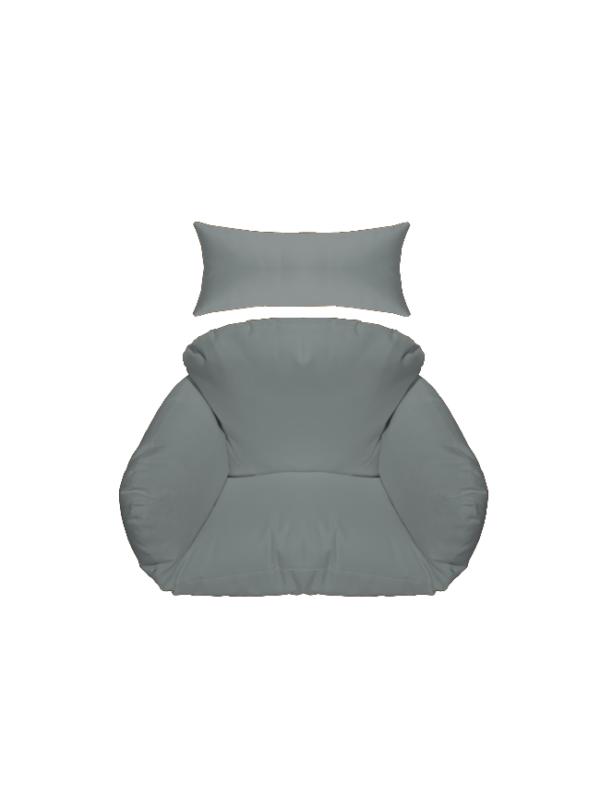 hangstoel kussen grijs