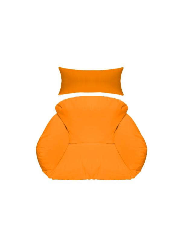 hangstoel kussen oranje