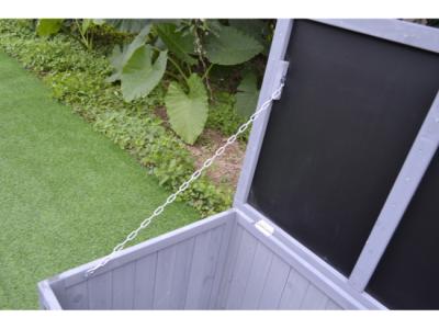 houten opbergbox tuinkussen