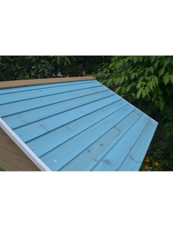houten speelhuis dak