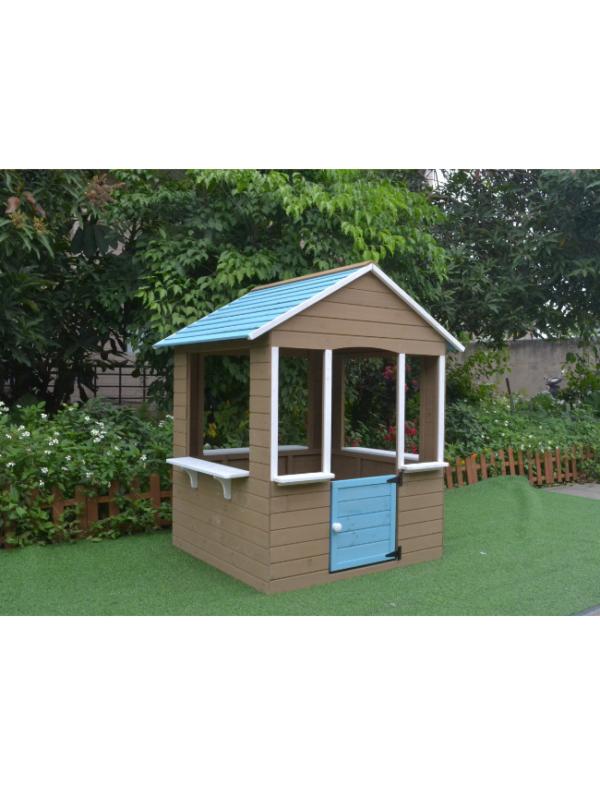 houten speelhuisje