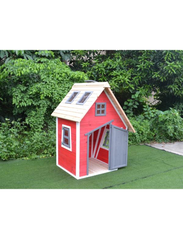 houten speelhuisje kind deur