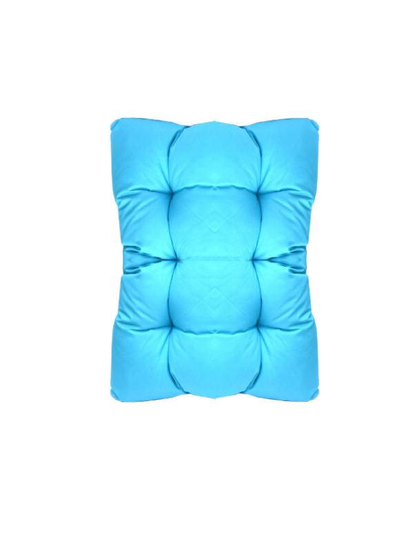 square kussen blauw