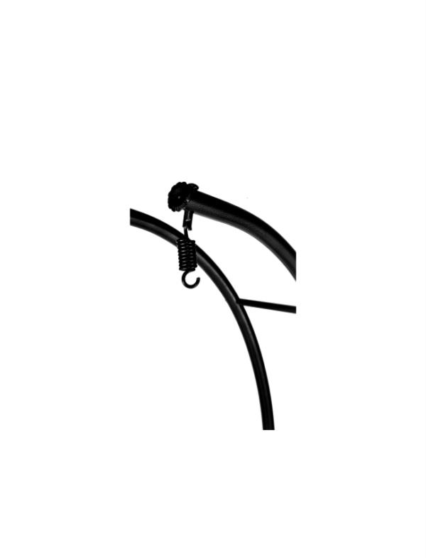 frame dubbel hangstoel zwart